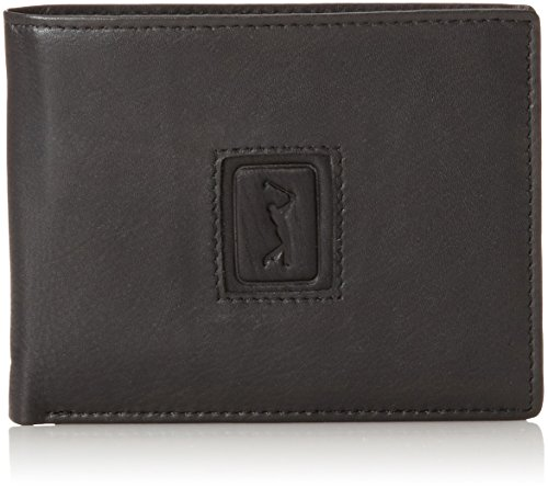PGA TOUR Men's Leather Passcase PGA Logo, Black, One (Pga Tour Leather)