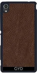 Funda para Sony Xperia M4 Aqua / Aqua DUAL - Cuero Marrón by UtArt