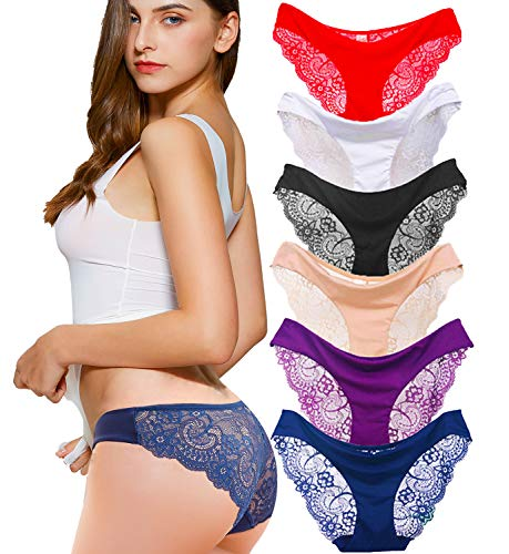 Kingfung 6 Pack Women's Invisibl...