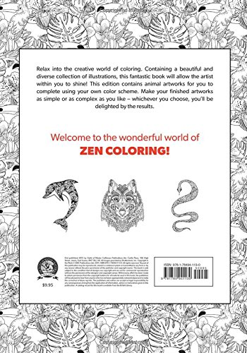Counting Number worksheets math addition coloring worksheets : Amazon.com: Zen Coloring - Animals (Zen Coloring Book ...