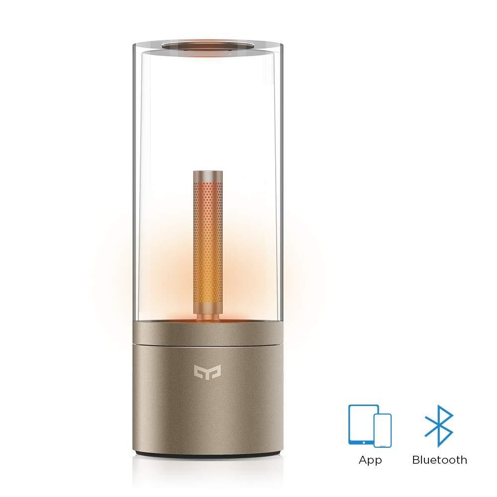 YEELIGHT YLFW01YL Candela, Rechargable Smart LED Candle Ambiance Bluetooth App Rotate Control, Night Light Bedside Lamp, 1800K by YEELIGHT