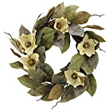Admired By Nature 24'' Magnolia Pine for Home Office Front Door Wreath, Wall Hanging Arrangement Decoration