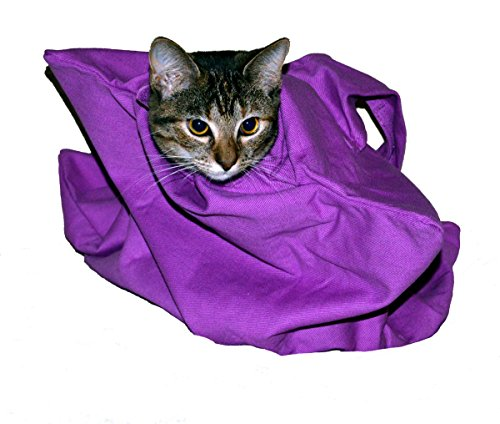 Cat-in-the-bag Small Lavender Cozy Comfort Carrier- Cat Carrier and Grooming Bag for Vet Visits, Medication Administration, Dental Care, and Car Travel