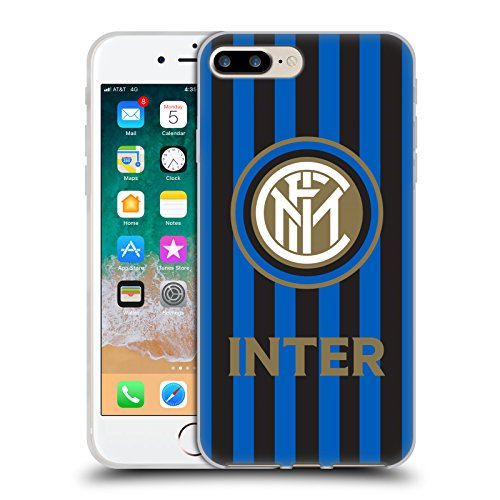 - Official Inter Milan Stripes 2017/18 Crest Patterns Soft Gel Case for iPhone 7 Plus/iPhone 8 Plus