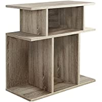 Monarch Specialties I 2476, Accent Side Table, Dark Taupe Reclaimed-Look, 24H'