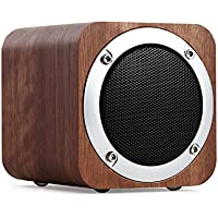 Bluetooth Speaker Wooden, Portable Bluetooth 4.0 Speakers with 10h Play Time, Wireless Computer Speaker with Enhanced Bass Resonator (EDR01)