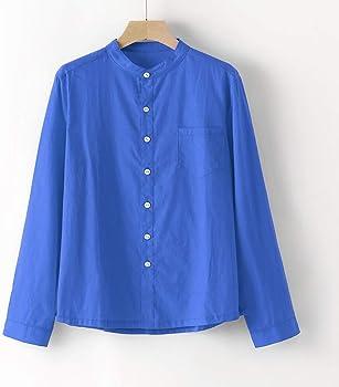 KUKICAT - Camisa de Verano para Hombre, Manga Larga, Ajustada, Informal, para Negocios, cómoda, Transpirable, Amplia Azul M: Amazon.es: Ropa y accesorios