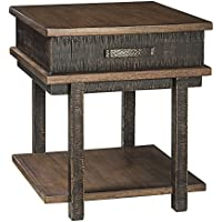 Stanah End Table Rectangular/Two-tone/Casual