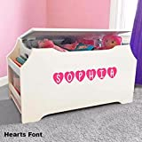 Personalized Dibsies Kids Toy Box with Book Storage - White