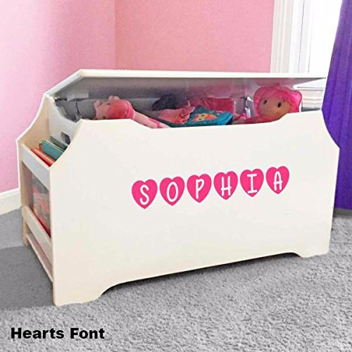 Personalized Toy Box (Personalized Dibsies Kids Toy Box with Book Storage - White)