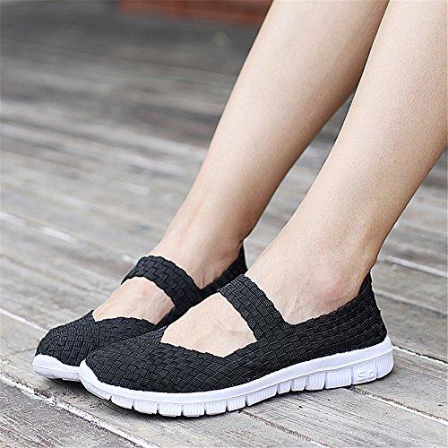 Negro Zapatillas SH075 para Mujer AIRAVATA fnSwqYxIq