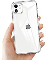 laxikoo Custodia iPhone 11, Cover iPhone 11 Trasparente TPU Morbido Silicone iPhone 11 Bumper Cover [Anti-Graffio] [Antiurto] Custodia Trasparente Protettiva Case per iPhone 11-6.1 Pollici