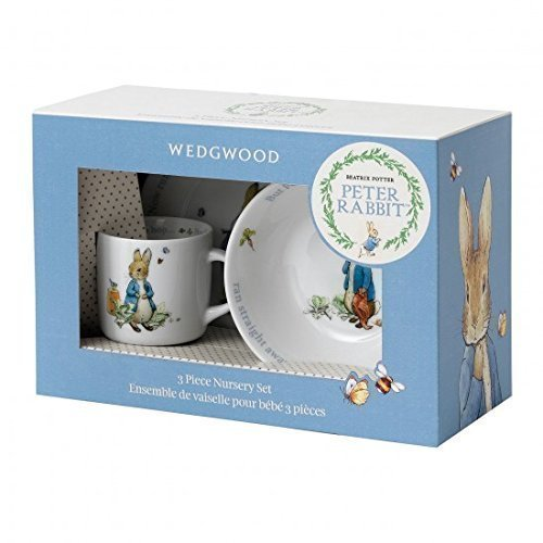 Beatrix Potter Peter Rabbit 3 Piece Boys Dinner Set Cup, Plate and Bowl by Wedgwood