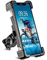 Bike Phone Mount, TEUMI Detachable 360° Rotate Motorcycle Phone Mount, Handlebar Bicycle Phone Holder Compatible with 13 Pro Max, 12 Mini, 11 Pro Max, XS Max, XR, X, 8 Plus, 4.5-7.2 inch, Cycling GPS