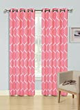 oval window treatments - Kashi Home Quinn Collection Window Treatment/Curtain/Panel 54