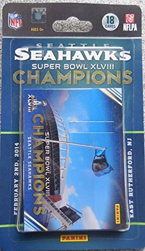 Panini Seattle Seahawks Super Bowl XLVIII Champions 18-Card Trading Card Set (Best Super Bowl Box Numbers To Have)