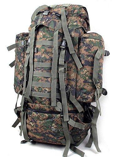 HWB 80L L le camping et randonnée et randonnée Paquet escalade Outdoor Wearable multifonctionnel Moistureproof Camouflage en nylon Motif camouflage -