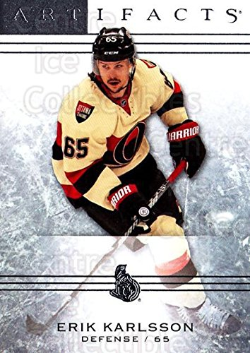 Erik Karlsson Hockey Card 2014-15 UD Artifacts #78 Erik Karlsson