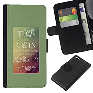 """Be-Star la tarjeta de Cr¨¦dito Slots PU Funda de cuero Monedero caso cubierta de piel Para Apple iPhone 5C ( Tiempo Coin Haga Conde Cartel Inspiring"""" )"""