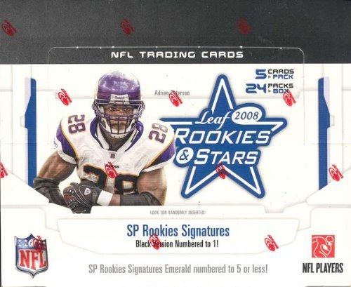 2008 Leaf Rookies & Stars Football Hobby Box - NHL Hockey Cards