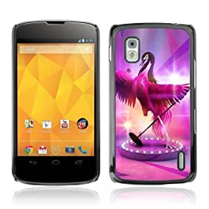 YOYOSHOP [Cute Fabulous Pink Signing Bird] LG Google Nexus 4 Case