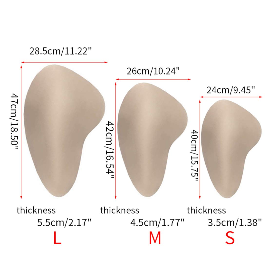 YUENA CARE Hip Pads Sponge Hip Enhancer Butt Lifter Shaper Reusable for Crossdressing