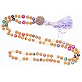 Chakra Buddhist Prayer Beads Japamala 108 Rudraksha Meditation Malas Healing Yoga Necklace