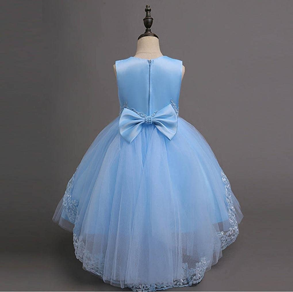 Girls Princess Dress,for 3-12 Years Old,Toddler Kids Pretty Lace Flower Wedding Party Formal Dress Baby Clothes: Amazon.co.uk: Clothing