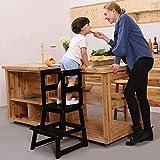 SDADI Kids Kitchen Step Stool with Safety Rail CPSC
