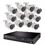 Q-See Surveillance System QC9616-12DX-2, 16-Channel HD Analog DVR with 2TB Hard Drive, 12-4MP Security Cameras