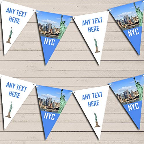 NYC New York City Birthday Bunting Garland Party Venue Decoration Party Flag Banner Garland -