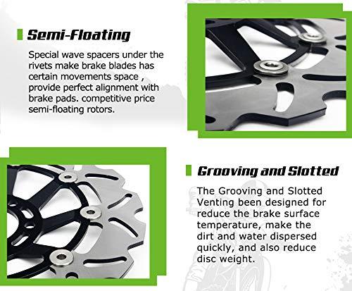 GSXR Front Brake Discs Rotors for Suzuki GSXR600 GSXR750 1997-2003 GSXR1000 2001 2002 Hayabusa GSX1300R 1999-2007 TL1000R TL1000S 98-01 by TARAZON (Image #6)
