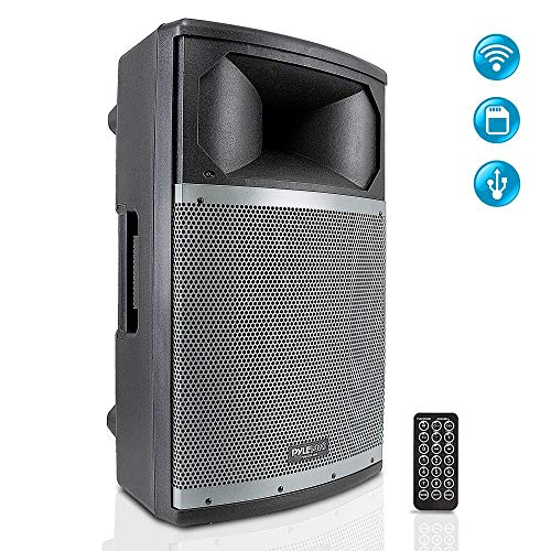 Wireless Bluetooth PA Speaker System - Portable Active Powered 1000W 2 Way Outdoor Amplifier Loudspeaker - 15