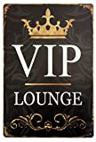 Kitchen Bar and Lounge Lan Beer Sign Vip Lounge Retro Bar Tin Sign,Vintage Metal Sign,Bar Poster Wall Decor Sign 8x12 Inches