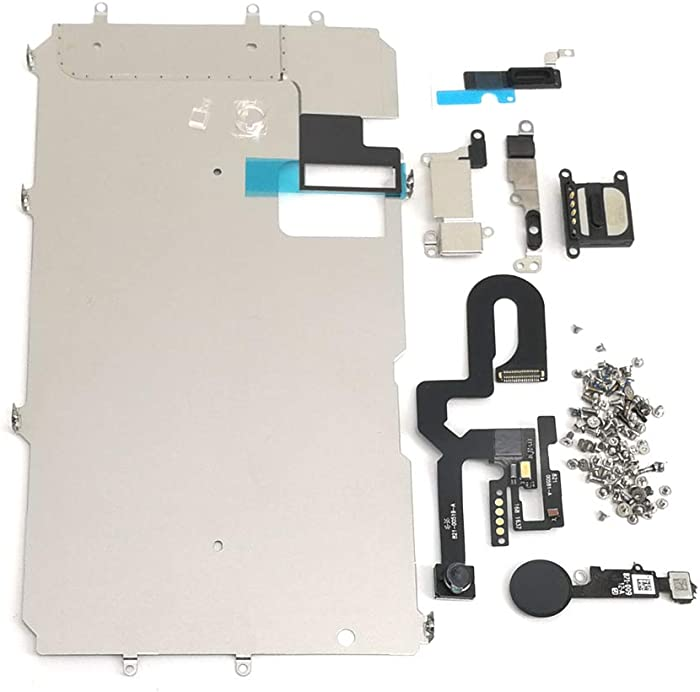 E-repair Screen Metal Bracket Front Camera Flex Cable Small Parts Set Replacement for iPhone 7 Plus (5.5 inch) (Black)