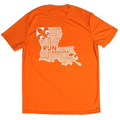 Gone For a Run Men's Running Short Sleeve Tech Tee Louisiana State Runner Adult XL (Louisiana State Runner)
