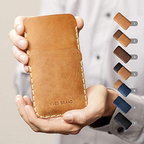 Leder H/ülle f/ür OnePlus 7T Pro Cover blaues Etui Tasche Case