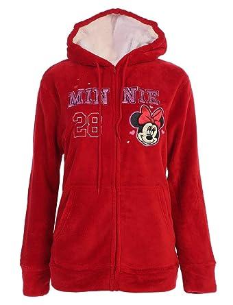 fb22593e3a0 Disney Women s Plus Size Minnie Mouse  28 Fleece Zip Up Hoodie Sweater  Jacket (2X