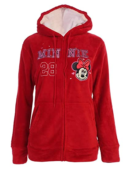 Disney Womens Plus Size Minnie Mouse 28 Fleece Zip Up Hoodie