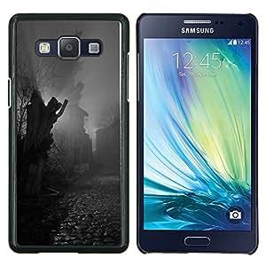 Estatua de adoquines Negro Blanco- Metal de aluminio y de plástico duro Caja del teléfono - Negro - Samsung Galaxy A5 / SM-A500