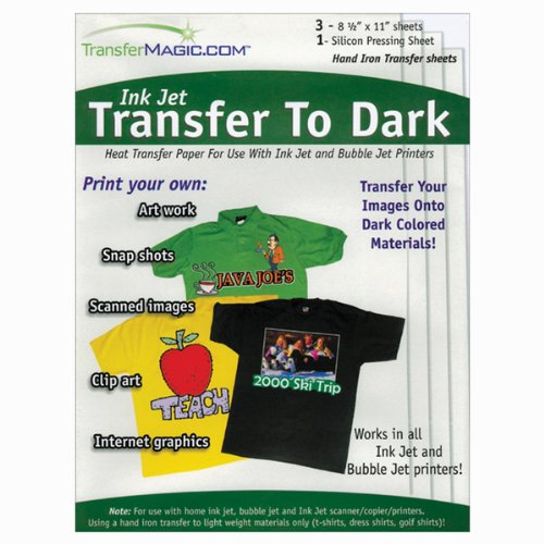Ink Jet Transfer Paper For Dark Fabric-8-1/2