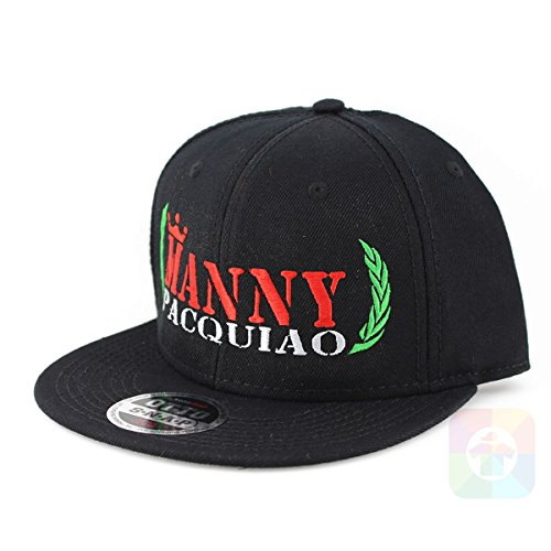 Boxing Manny Pacquiao Flat Six Panel Pro Style Snapback Hat #2039