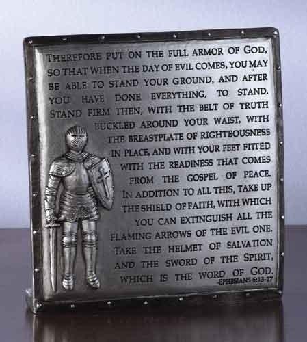 Decorative Armor of God Ephesians 6:13-17 Desk (Armor Of God Poster)