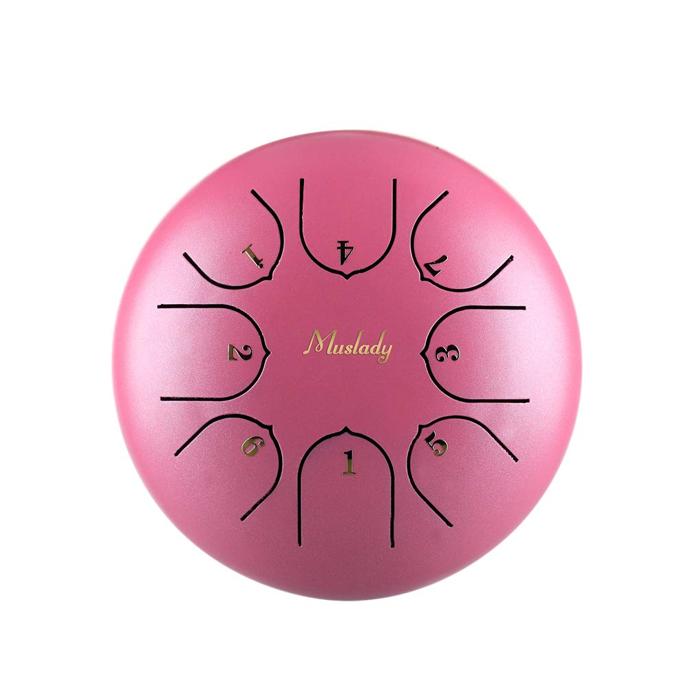 Festnight Steel Tongue Drum, 6 Inch Mini C Key 8 Tones Percussion Instrument Hand Pan Drum with Mallets Carry Bag