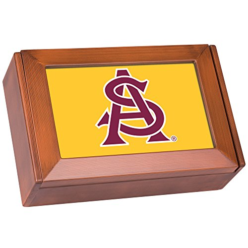 NCAA Collegiate Team Wood Finish Digital Fight Song Box: Arizona State (Arizona State University Colors)