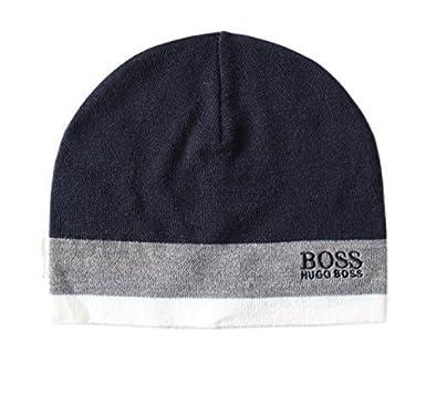 87187eb7b94 BOSS Hugo Beanie HAT Green CINY Grey