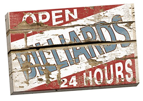 Portfolio Canvas Decor Vintage Signs-Billiards I Studio Large Canvas Wall