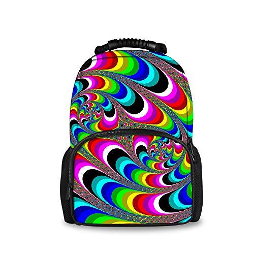 JACINTAN Psychedelic Art Swirl Kids Blue Backpack Children Large School Bags ()
