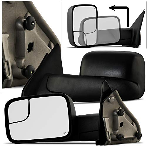 - MAPM - Driver/Left Side Power Heated Manual Folding Flip-Up Towing Mirror for Dodge Ram 1500 2500 3500 Pickup Truck 2002-2008