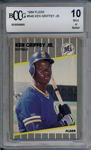 1989 Fleer #548 Ken Griffey Jr. BCCG 10 Mint 9396968 RC Rookie Mariners